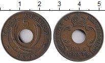 Изображение Монеты Восточная Африка 5 центов 1941 Бронза XF