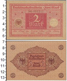 Изображение Банкноты Германия 2 марки 0