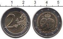 Изображение Монеты Европа Люксембург 2 евро 2014 Биметалл UNC-