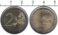 Изображение Монеты Европа Бельгия 2 евро 2014 Биметалл UNC-