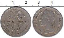 Изображение Монеты Бельгийское Конго 50 сантим 1927 Медно-никель XF