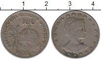 Изображение Монеты Южная Америка Бразилия 100 рейс 1901 Медно-никель VF