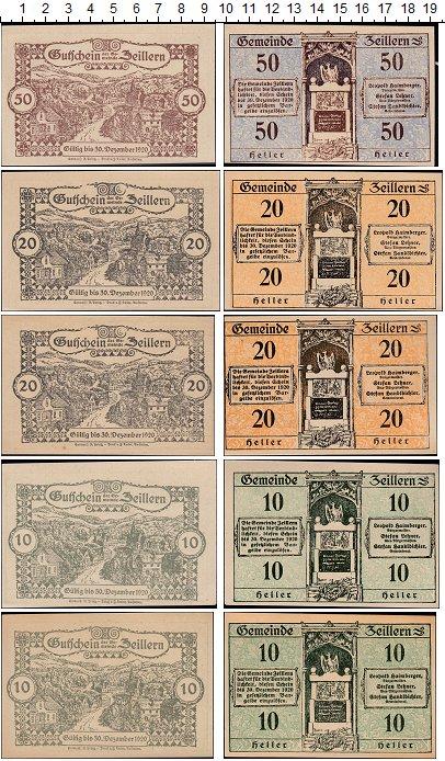 Изображение Банкноты Европа Австрия Набор из 5 нотгельдов 1920  UNC-