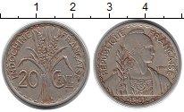 Изображение Монеты Индокитай 20 сантим 1941 Медно-никель XF