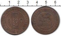 Изображение Монеты Индокитай 1 сантим 1889 Бронза VF