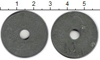 Изображение Монеты Индокитай 1 сантим 1942 Цинк XF-