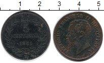 Изображение Монеты Европа Италия 5 сентесим 1861 Бронза VF