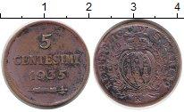 Изображение Монеты Европа Сан-Марино 5 сентесим 1935 Бронза XF