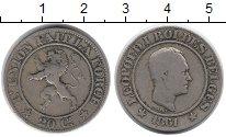 Изображение Монеты Бельгия 20 сантим 1861 Медно-никель VF Леопольд I