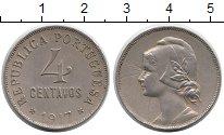 Изображение Монеты Европа Португалия 4 сентаво 1917 Медно-никель XF
