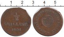 Изображение Монеты Европа Швеция 1/2 скиллинга 1801 Медь VF