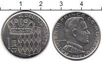 Изображение Монеты Монако 1 франк 1982 Медно-никель UNC- Раньер III
