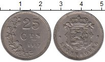 Изображение Монеты Европа Люксембург 25 сантим 1927 Медно-никель XF