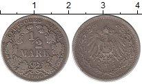 Изображение Монеты Германия 1/2 марки 1906 Серебро XF- A