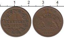 Изображение Монеты Германия Баден 1 крейцер 1860 Медь XF-
