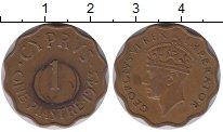 Изображение Монеты Кипр 1 пиастр 1943 Бронза XF Георг VI