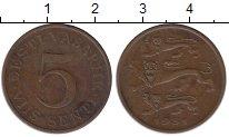 Изображение Монеты Эстония 5 сенти 1931 Бронза XF