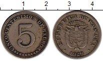 Изображение Монеты Панама 5 сентесим 1929 Медно-никель XF