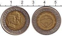 Изображение Монеты Филиппины 10 песо 2002 Биметалл XF