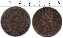 Изображение Монеты Южная Америка Аргентина 2 сентаво 1891 Бронза VF