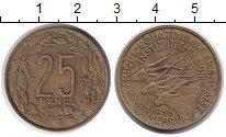 Изображение Монеты Камерун 25 франков 1958 Латунь XF