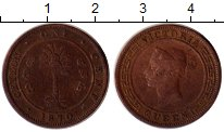 Изображение Монеты Цейлон 1 цент 1870 Бронза VF