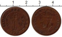 Изображение Монеты Шри-Ланка Цейлон 1 цент 1942 Бронза XF-