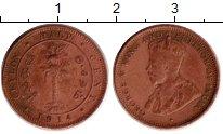 Изображение Монеты Цейлон 1/2 цента 1914 Бронза VF