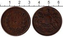 Изображение Монеты Индия 1/2 анны 1835 Медь VF Восточно - Индийская