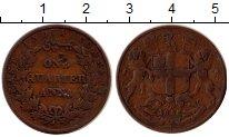 Изображение Монеты Индия 1/4 анны 1858 Медь VF Восточно - Индийская