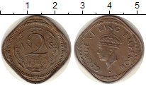 Изображение Монеты Азия Индия 2 анны 1946 Медно-никель XF