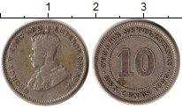 Изображение Монеты Стрейтс-Сеттльмент 10 центов 1926 Серебро VF Георг VI