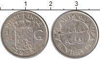Изображение Монеты Нидерландская Индия 1/4 гульдена 1939 Серебро XF