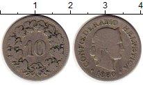 Изображение Монеты Европа Швейцария 10 рапп 1880 Медно-никель VF