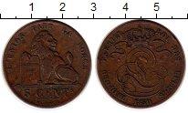 Изображение Монеты Бельгия 5 сантим 1850 Медь XF-