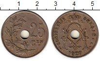 Изображение Монеты Бельгия 25 сантим 1929 Медно-никель XF
