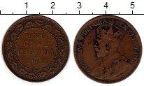 Изображение Монеты Северная Америка Канада 1 цент 1917 Бронза XF