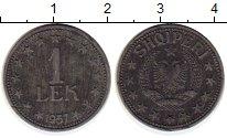 Изображение Монеты Европа Албания 1 лек 1957 Цинк XF
