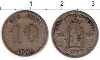 Изображение Монеты Европа Швеция 10 эре 1892 Серебро XF