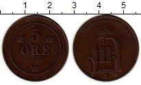 Изображение Монеты Швеция 5 эре 1889 Бронза XF