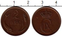 Изображение Монеты Европа Дания 2 эре 1899 Бронза XF