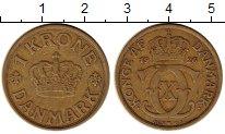 Изображение Монеты Европа Дания 1 крона 1926 Латунь XF