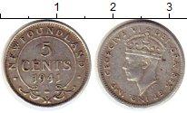 Изображение Монеты Ньюфаундленд 5 центов 1941 Серебро XF
