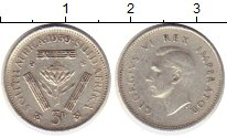 Изображение Монеты Африка ЮАР 3 пенса 1939 Серебро XF