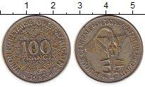 Изображение Монеты Западная Африка 100 франков 1982 Медно-никель XF- Золотая гиря народа