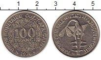 Изображение Монеты Западная Африка 100 франков 1976 Медно-никель XF Золотая гиря народа