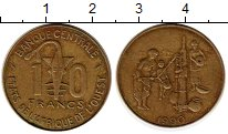 Изображение Монеты Западная Африка 10 франков 1990 Латунь XF