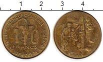 Изображение Монеты Западная Африка 10 франков 1984 Латунь XF