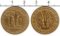 Изображение Монеты Западная Африка 10 франков 1976 Латунь XF Газель, Золотая гиря