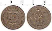 Изображение Монеты Западная Африка 50 франков 1976 Медно-никель XF Золотая гиря народа